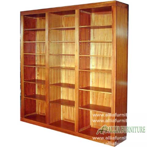 lemari rak buku kayu jati model locker