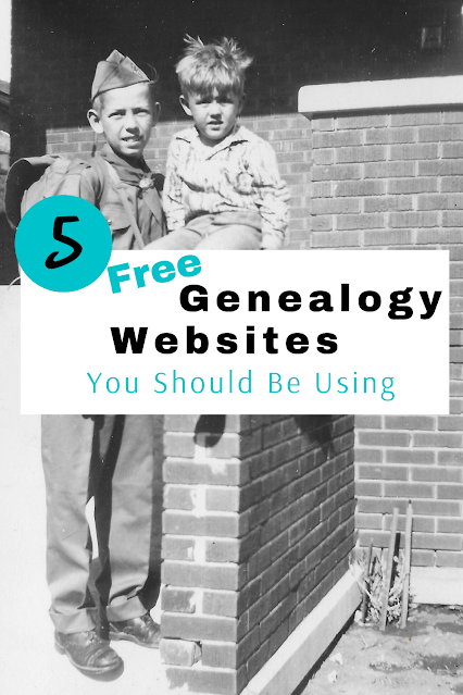 5 Free Genealogy Websites You Should Be Using by Musings of a Museum Fanatic #genealogy #FamilyHistory