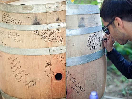 Wine Bottle Guest Books Can Include Personalized Labels On Each That Correspond To Anniversary Years