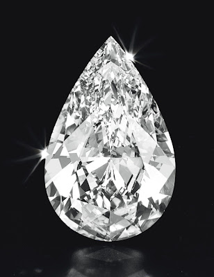 50 carat pear shaped diamond Christies
