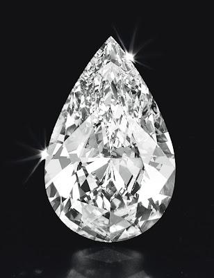 50 carat pear shaped diamond Christies