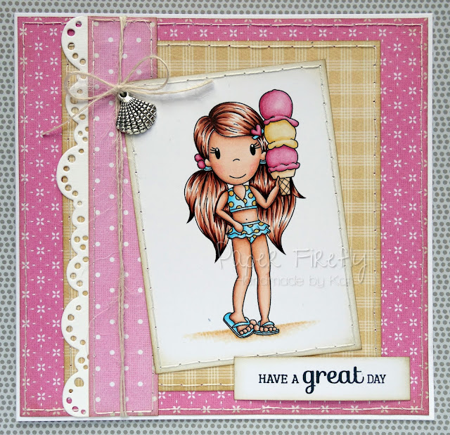 Trio of Summer cards for Making Cards magazine feature (Ice cream Ellie by The Paper Nest Dolls)