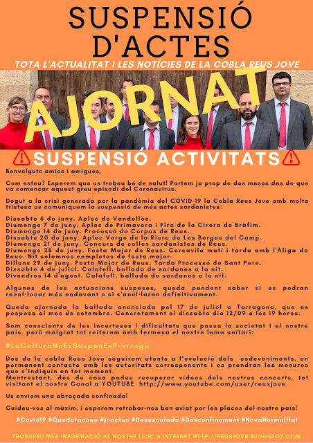 SUSPENSIÓ D'ACTES FINS AGOST
