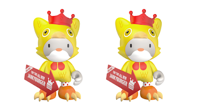 Kickstarter Exclusive King Janky V Mini Figure by SUPERPLASTIC (Huck Gee x Paul Budnitz)