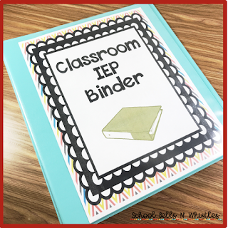 Use an IEP binder to organize your IEP caseload.
