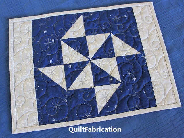 Holiday Star snowflake version place mat by QuiltFabrication