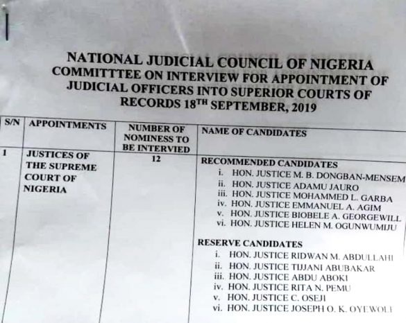 Pept: Cjn Nominates Appeal Court Justices Who Upheld Buhari's Election To Supreme Court Ahead Of Judgement