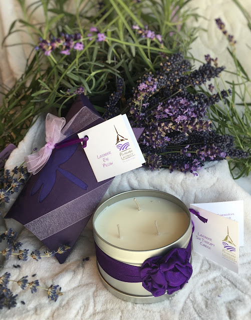 Lavender Spa Products made by Pelindaba Lavender using organic lavender oil