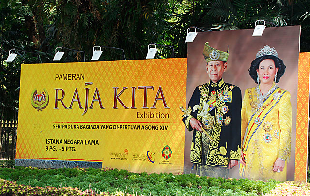 Raja Kita exhibition board