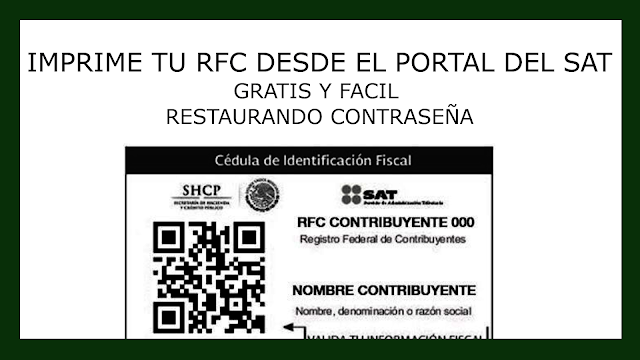 Captura de CIF de RFC SAT