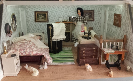 Dollhouse Escapes Step By Step Servant Room   House Plans With Servant Stairs   Classic American House   1890'S Victorian Home   Prairie Box House   Farmer House   Downton Abbey