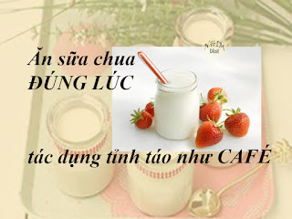 Ăn sữa chua đúng lúc - Tác dụng như Café