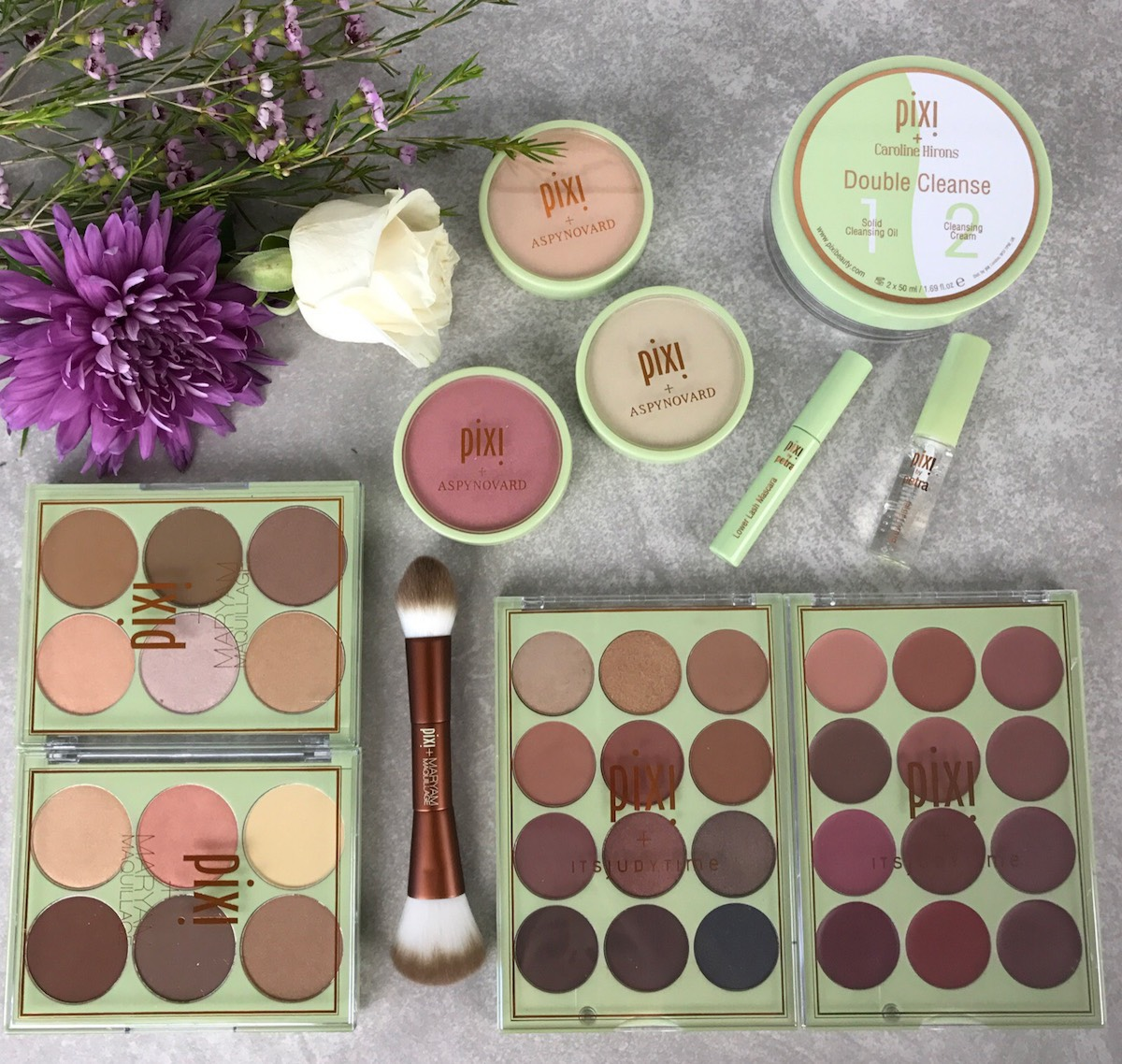This is a flat lay of the gorgeous #PixiPretties collection from Pixi Beauty.