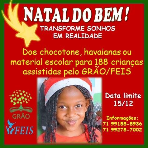 Veja como doar para a campanha de Natal das crianças do GRÃO