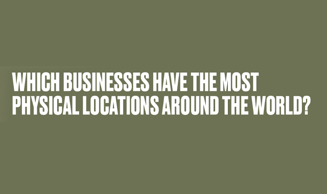 Businesses Ranked by Number of Physical Locations
