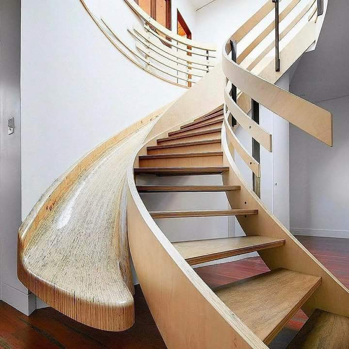 Contoh Model Tangga Unik Desain Interior Terbaru - Foto ...