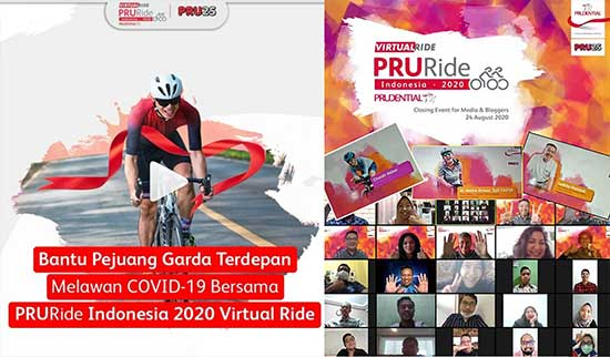 PRURide Indonesia 2020 Virtual Ride, Gowes Virtual.