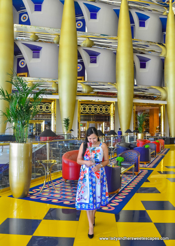 Lady in Burj Al Arab lobby