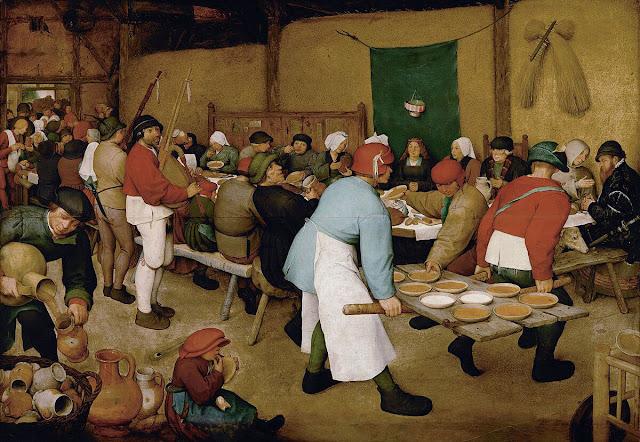 Ο γάμος των χωρικών, του Πίτερ Μπρέγκελ του πρεσβύτερου / Peasant Wedding, by Pieter Bruegel the elder