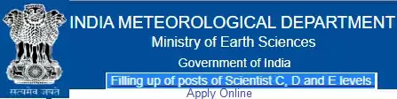 Scientist Recruitment in Meteorological Department 2021
