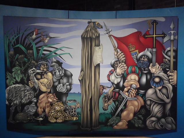 Mural en el Museo Casa Rosada en Plaza de Mayo, Buenos Aires