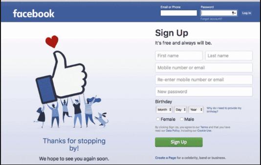 Facebook Sign Up Mobile Phone Number