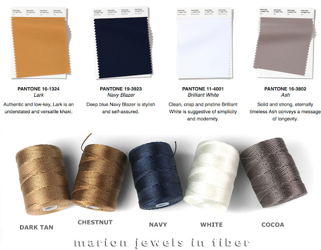 2020 Pantone Spring/Summer Fashion Colors Compared with C-Lon Bead Cord Colors