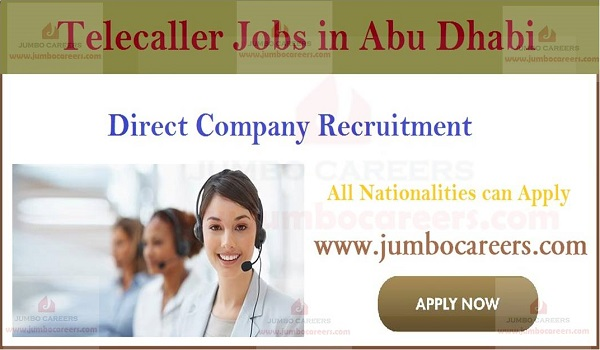 Current jobs in Gulf countries, How to apply for tele caller jobs in Abu Dhabi,
