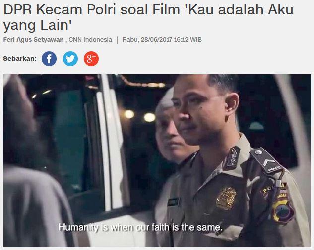 """Menyoal Sikap Kritis Anggota DPR terhadap Film """"Kau adalah Aku yang Lain"""""""