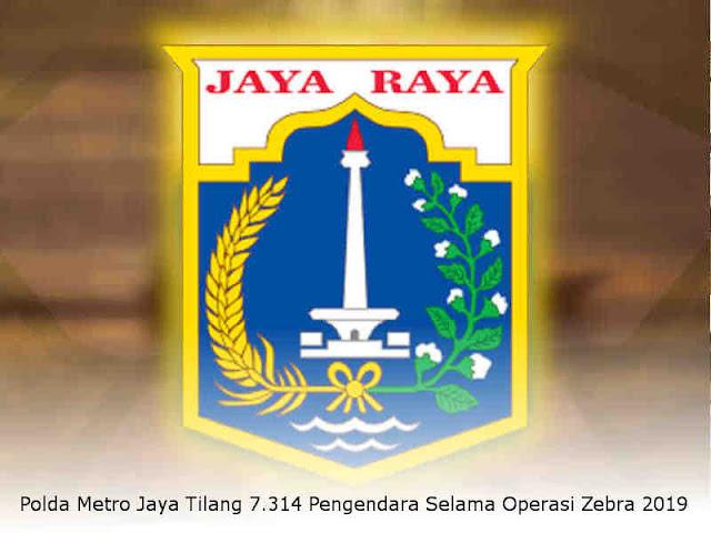 Polda Metro Jaya Tilang 7.314 Pengendara Selama Operasi Zebra 2019