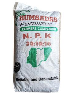 Humsadab Fertilizer 50kg on white background