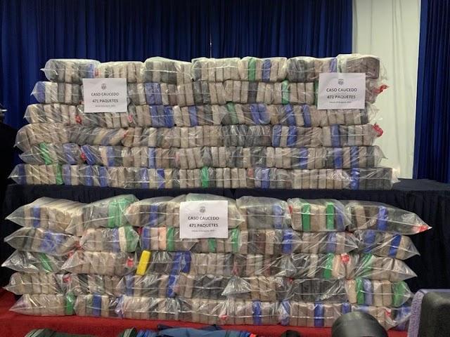SANTO DOMINGO: DNCD ocupa 539 kilos de cocaína, apresa tres dominicanos