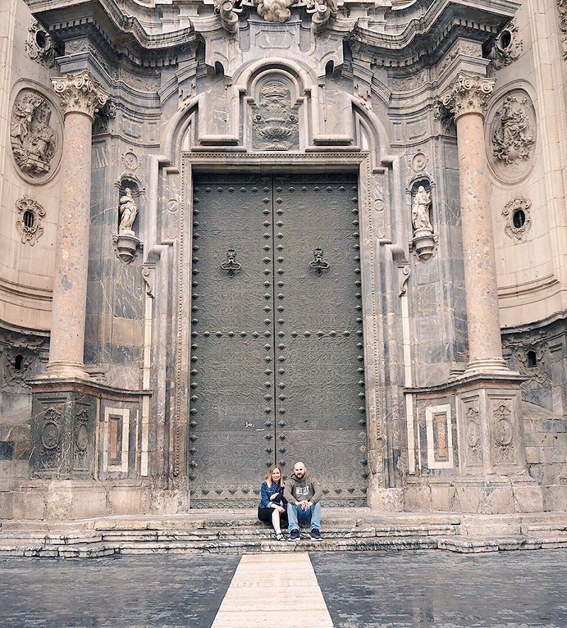 The doors to the cathedral in Murcia