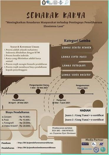 """Yuk Ikutan Lomba Di SEMARAK KARYA"""" dari HIMATEKPAL Universitas Diponegoro"""