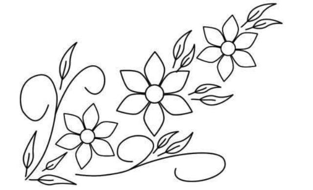 Different types of flowers drawings