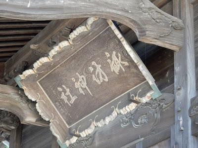 諏訪神社の額
