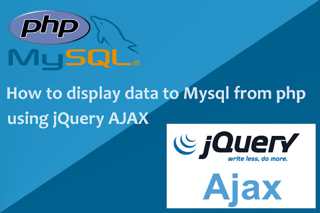 How to display data to MySql from PHP using jQuery AJAX.