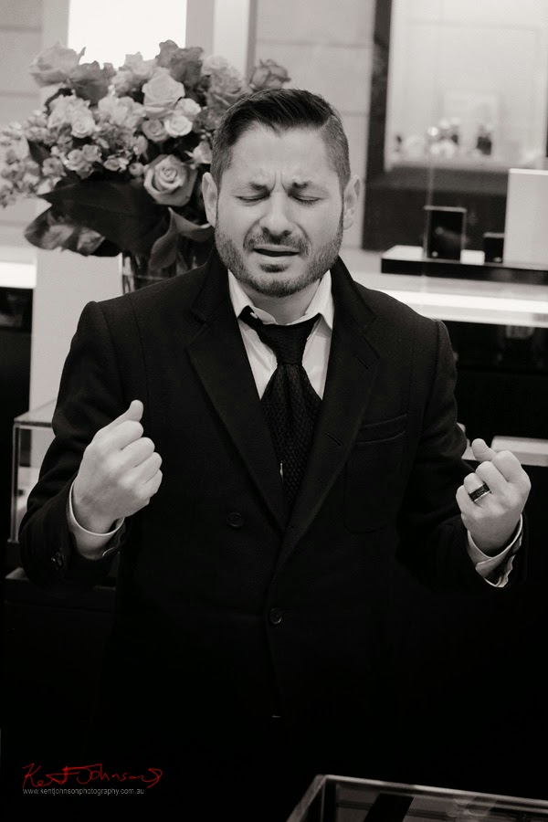 Candid portrait, Man of passion, Stefano Canturi and the new ETERNAL range, Eternal jewellery launch - Canturi, Photographed by Kent Johnson.