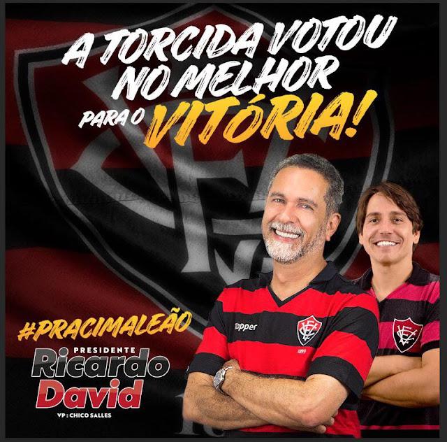 Com mais de 50% dos votos, Ricardo David é o novo presidente do Vitória 1