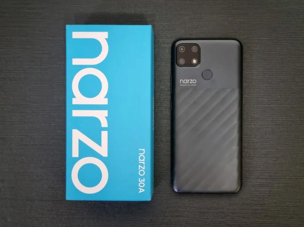 realme Narzo 30A Laser Black Colorway