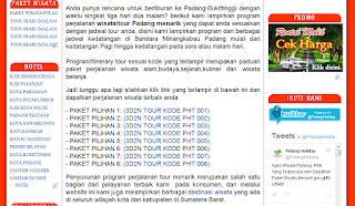 Pilihan Rute dalam Website Pelangi Holiday