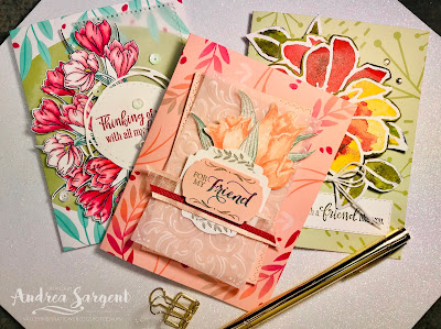 Andrea Sargent, Social Stamping, Stampin Up, Timeless Tulips, See a Silhouette, Easter Promise, Calligraphy Essentials, 2020, Friends, blog hop