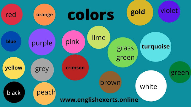 الألوان بالانجليزية شرح مبسط لكل معاني واسماء الالوان بالانجليزي