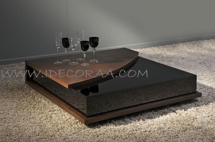 Idecoraa moderna mesa de centro modelo 13 - Modelos de mesa de centro ...