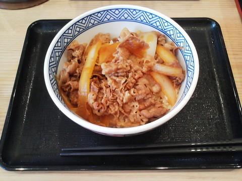 牛丼(並盛)¥380-3 吉野家稲沢市役所前店