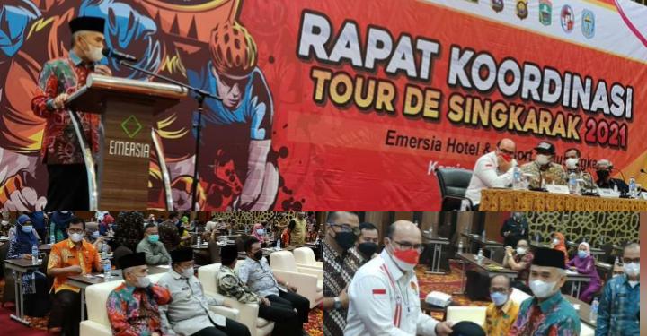 Bupati Kerinci Adirozal Wakili Gubernur Jambi Hadiri Rakor Tour De Singkarak 2021