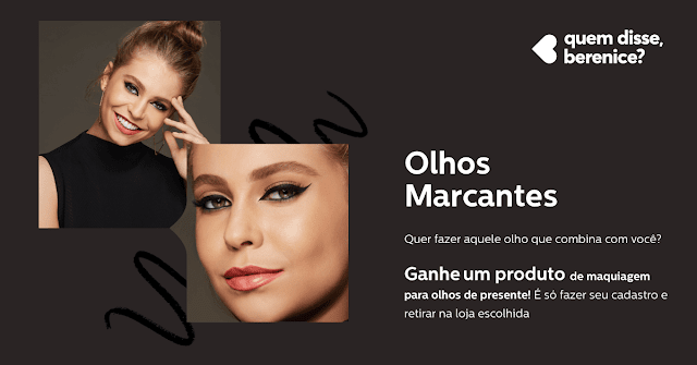 amostra grátis olhos marcantes quem disse berenice