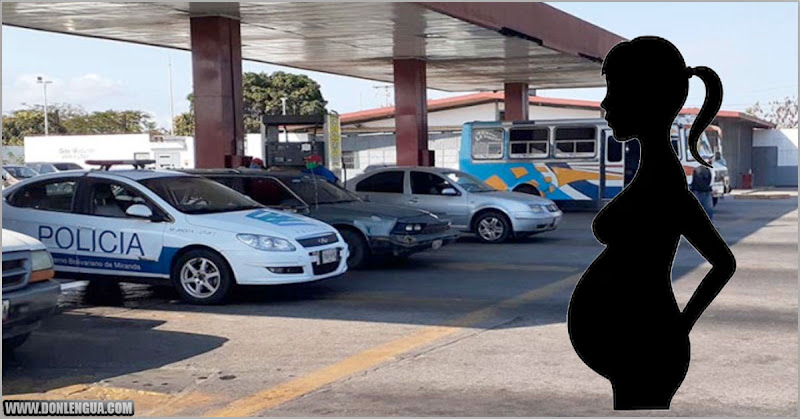 Mujer parió literalmente mientras hacía cola para la gasolina en el Tuy