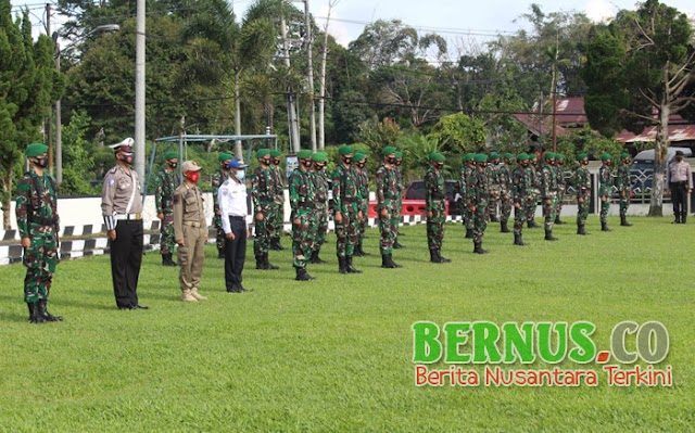 Anggota Kodim 0422/LB Ikut Serta Dalam Apel Gelar Pasukan Operasi Ketupat 2021